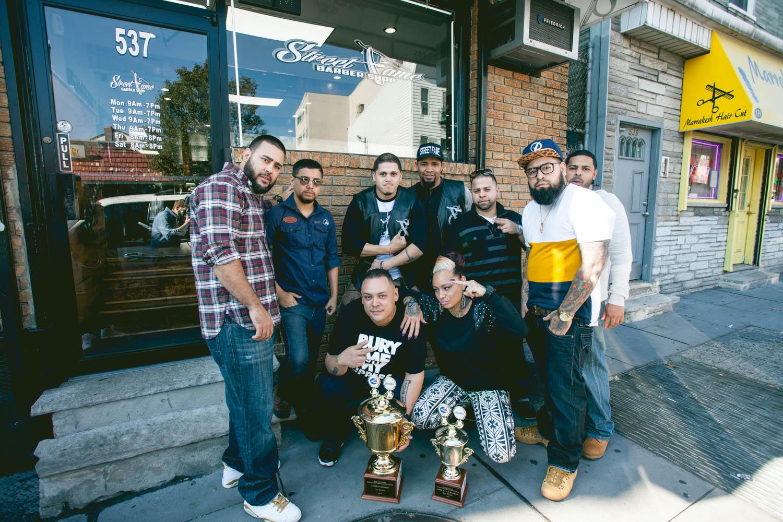 2014-10-16 Jersey City NJ. Street Fame Barber Shop. Photo: Greg ...