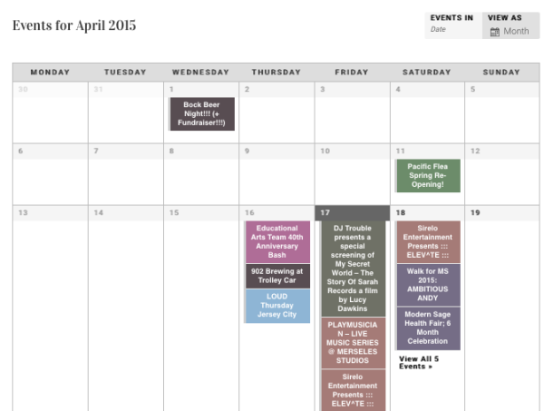 ChicpeaJC Launches Jersey City Event Calendar!