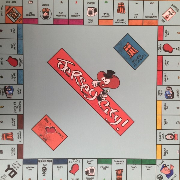Jersey City Monopoly Art by Mr. AbiLLity
