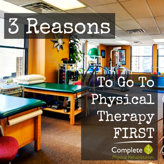 3 Reasons To Go To Physical Therapy FIRST!  Plus: Enter to WIN a Fitbit!