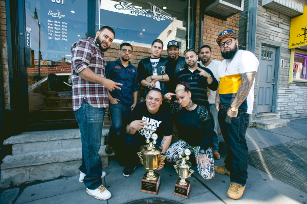 2014-10-16 Jersey City NJ. Street Fame Barber Shop. Photo: Greg Pallante