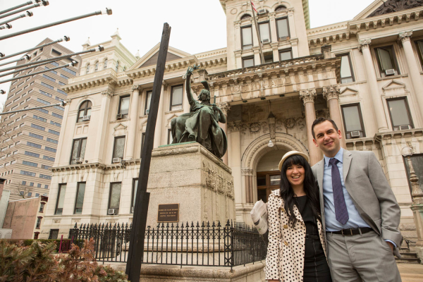 Lynn Hazan and Mayor Steven Fulop for chicpeajc.com. Photo: Greg Pallante