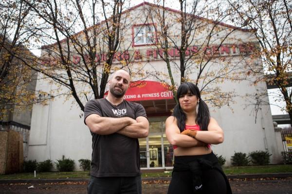 2015-12-1 Jersey City NJ. World Boxing Gym shot for Lynn Hazan and Chicpeajc. Photo: Greg Pallante