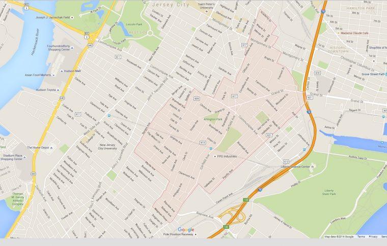 Bergen Lafayette google map