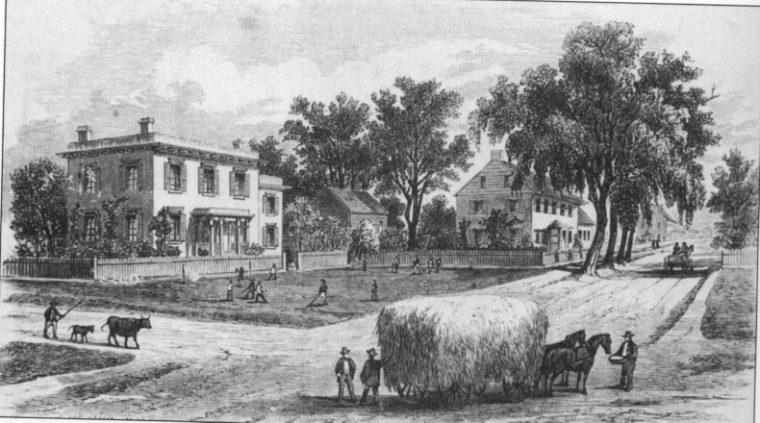 Bergen Square 1850s