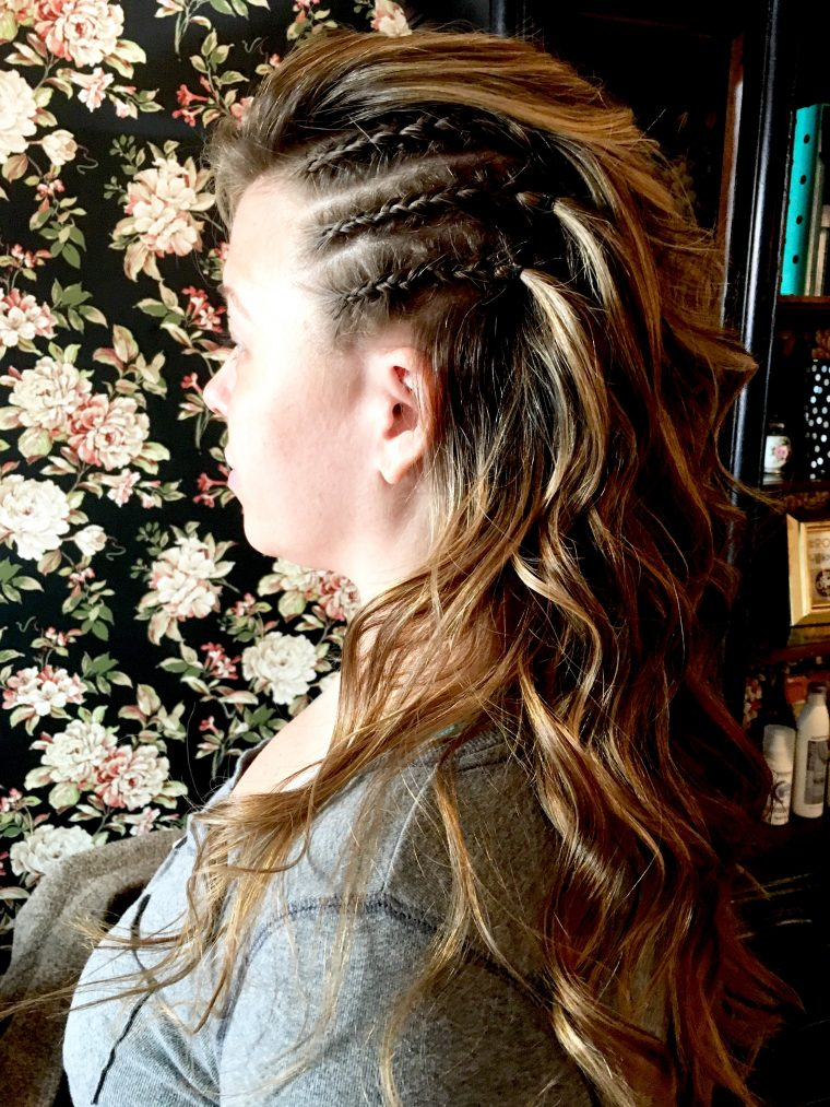 Corn Row/Beach Wave Combo