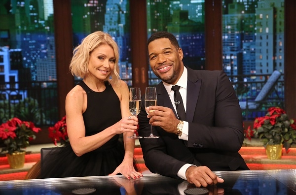 """Kelly Ripa and Michael Strahan are pictured during the production of """"LIVE with Kelly and Michael"""" in New York on Thursday, Dec. 17, 2015. Photo: David M. Russell/Disney ABC Home Entertainment and Television Distribution ©2015 Disney ABC. All Rights Reserved."""