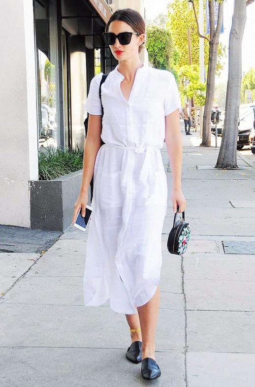 mules-slides-white-shirtdress-shirt-dress-summer-work-outfit-model-style-lily-aldridge-www