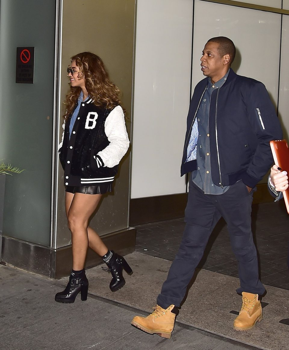 couple-coordinated-clunky-boots-bomber-jackets-nyc