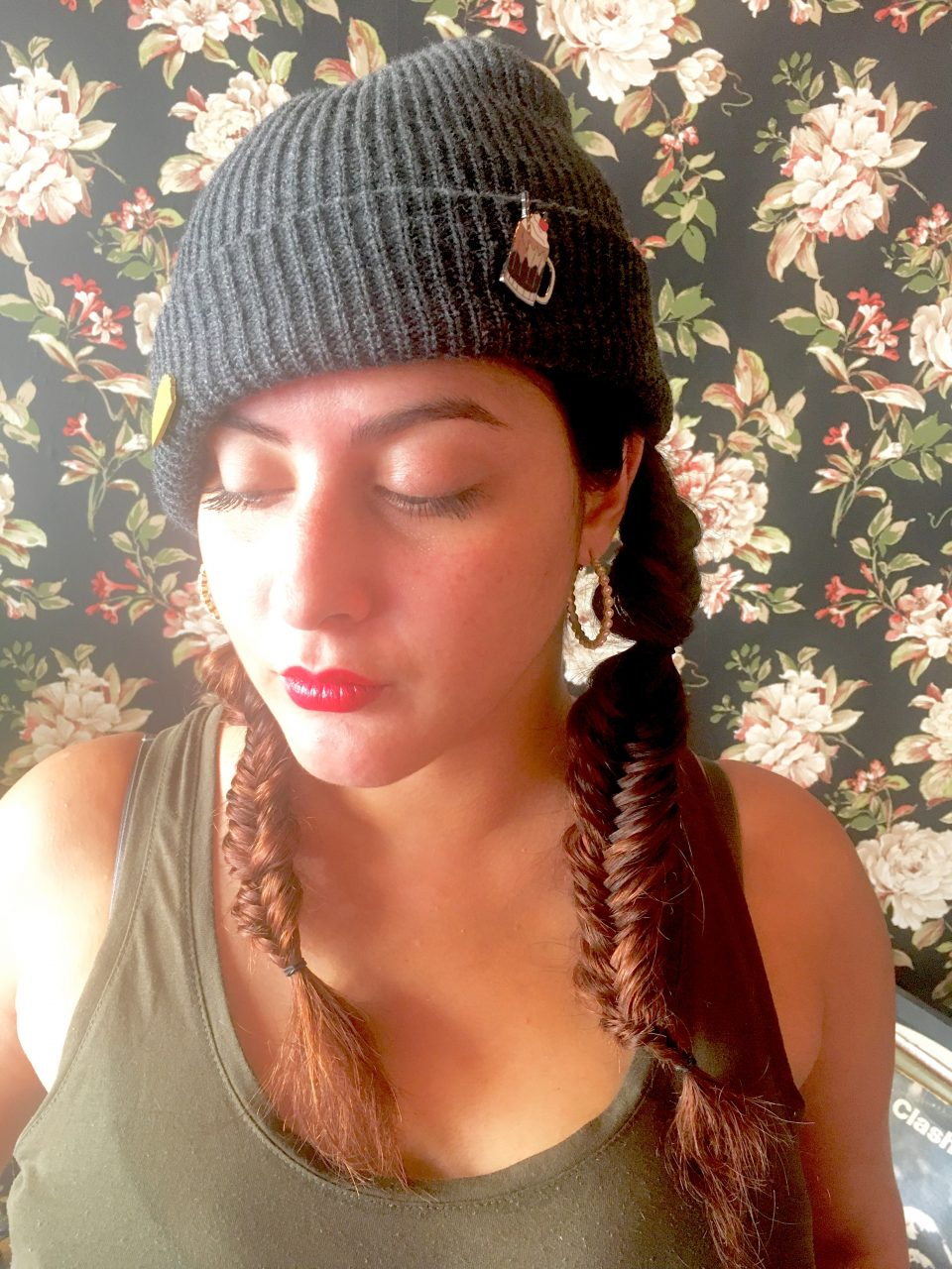 Double Fish Tail Braids sprayed with R+Co Rockaway Salt Spray to add texture - who says salt spray is just for summer?!