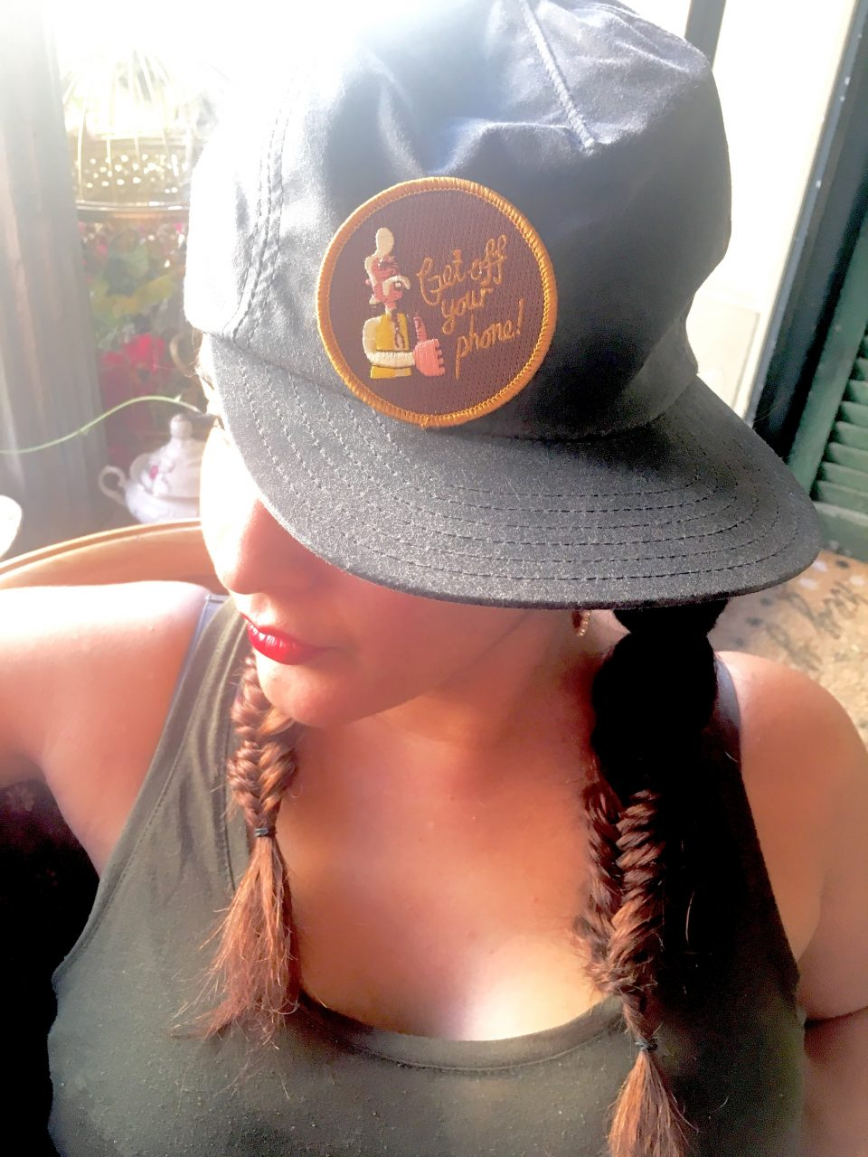 Canvas Hat & Patch from Kanibal & Co Double Fish Tail Braid via The Hair Room JC Braid Bar