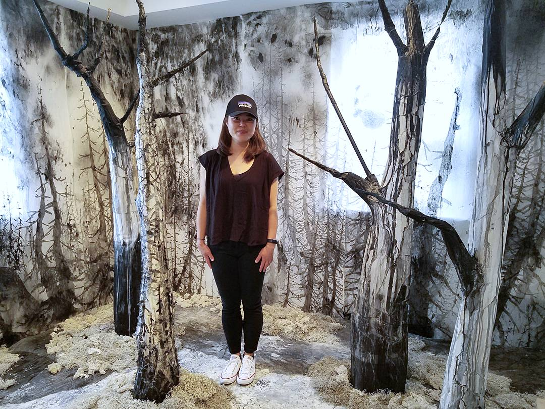 "Artist Yeon Ji Yoo's installation for ""The Innocence of Trees"""