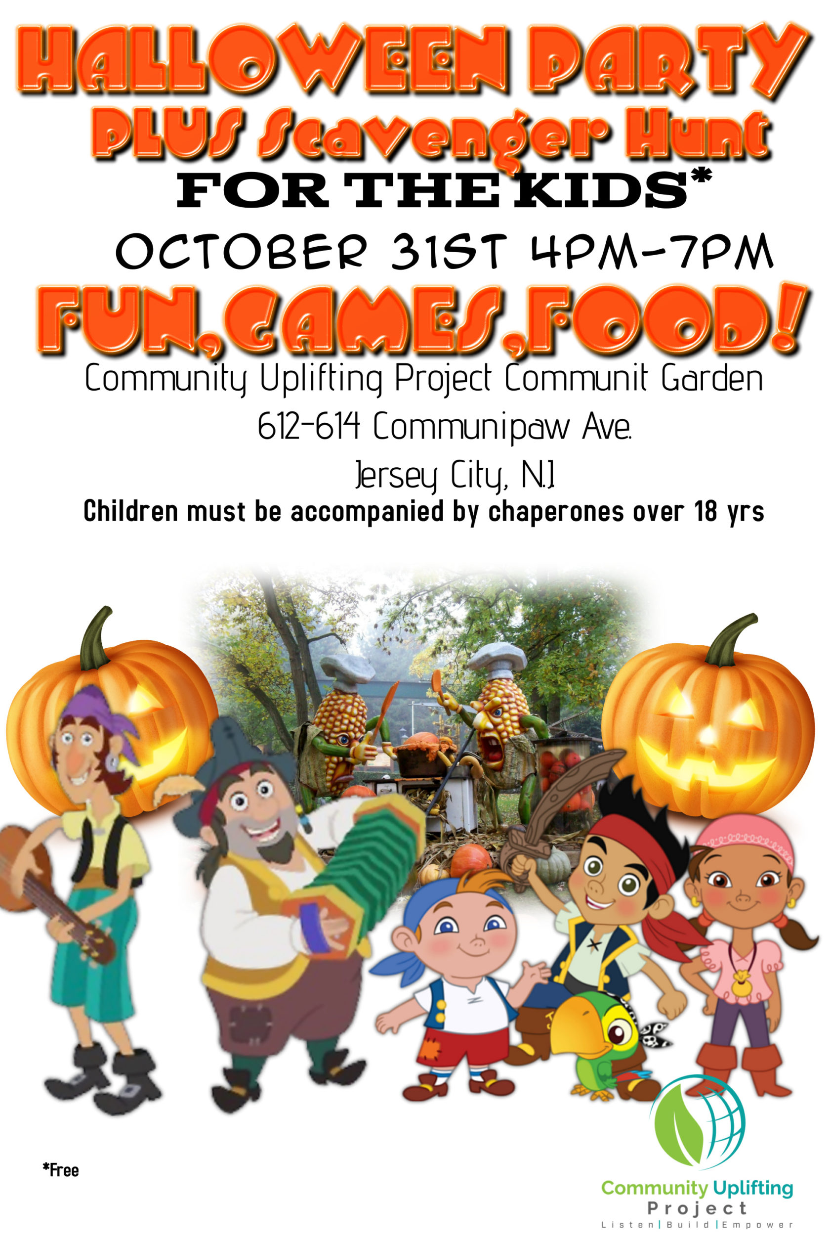 c.u.p children's halloween party & scavenger hunt - chicpeajc