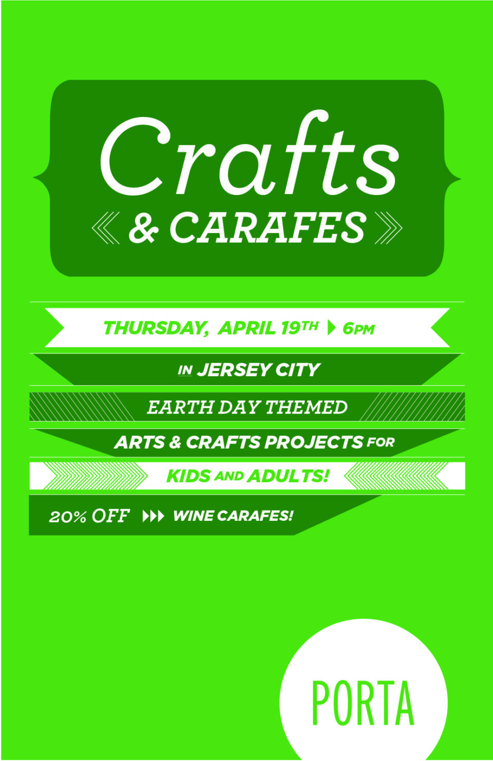 Crafts & Carafes: Earth Day Edition