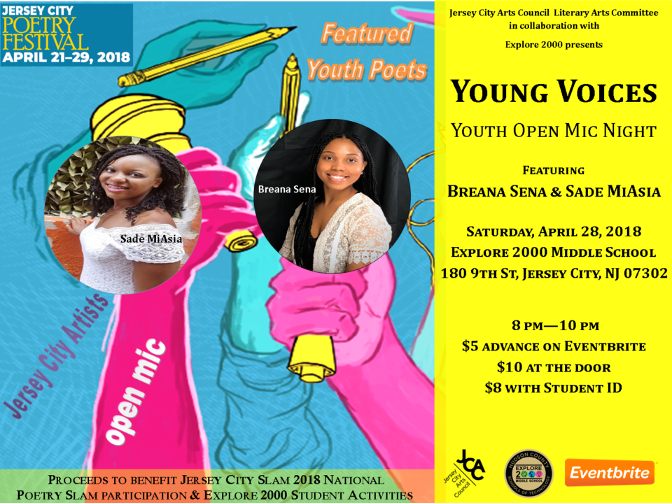 Young Voices – Youth open mic featuring Breana Sena & Sade MiAsia