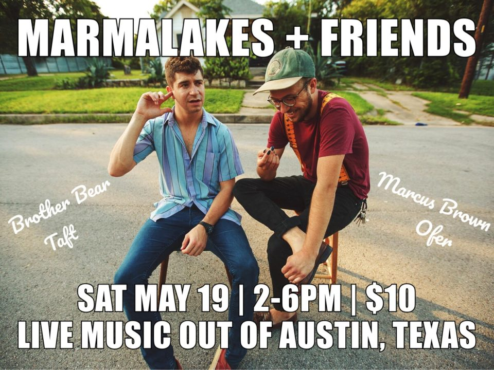 SMUSH Gallery presents: Marmalakes + Friends, Live Music Out of Austin, Texas