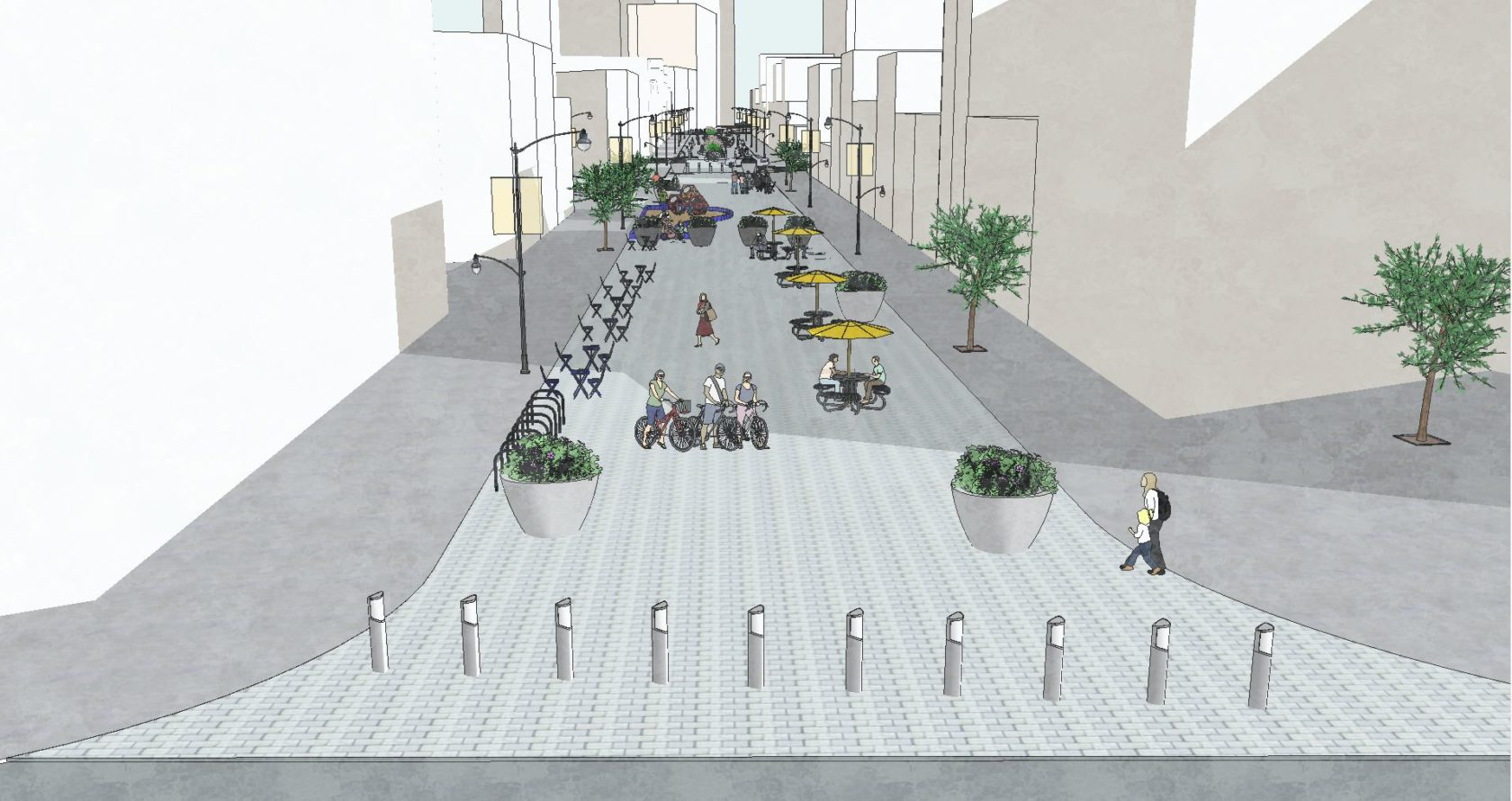 What's Going On With The Pedestrian Plaza