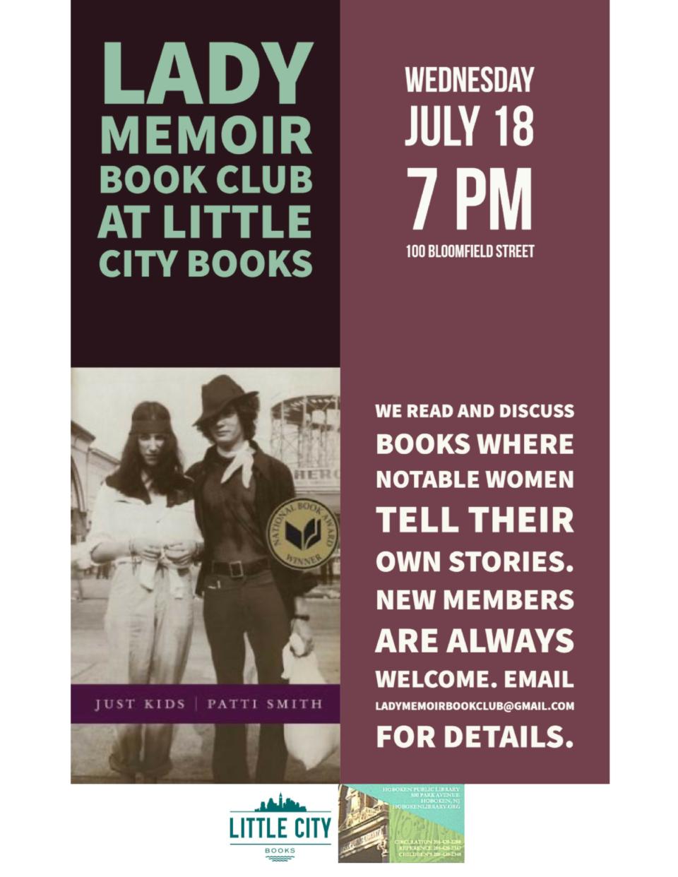Lady Memoir Book Club Ladies That Rock Summer Series: Just Kids by Patti Smith
