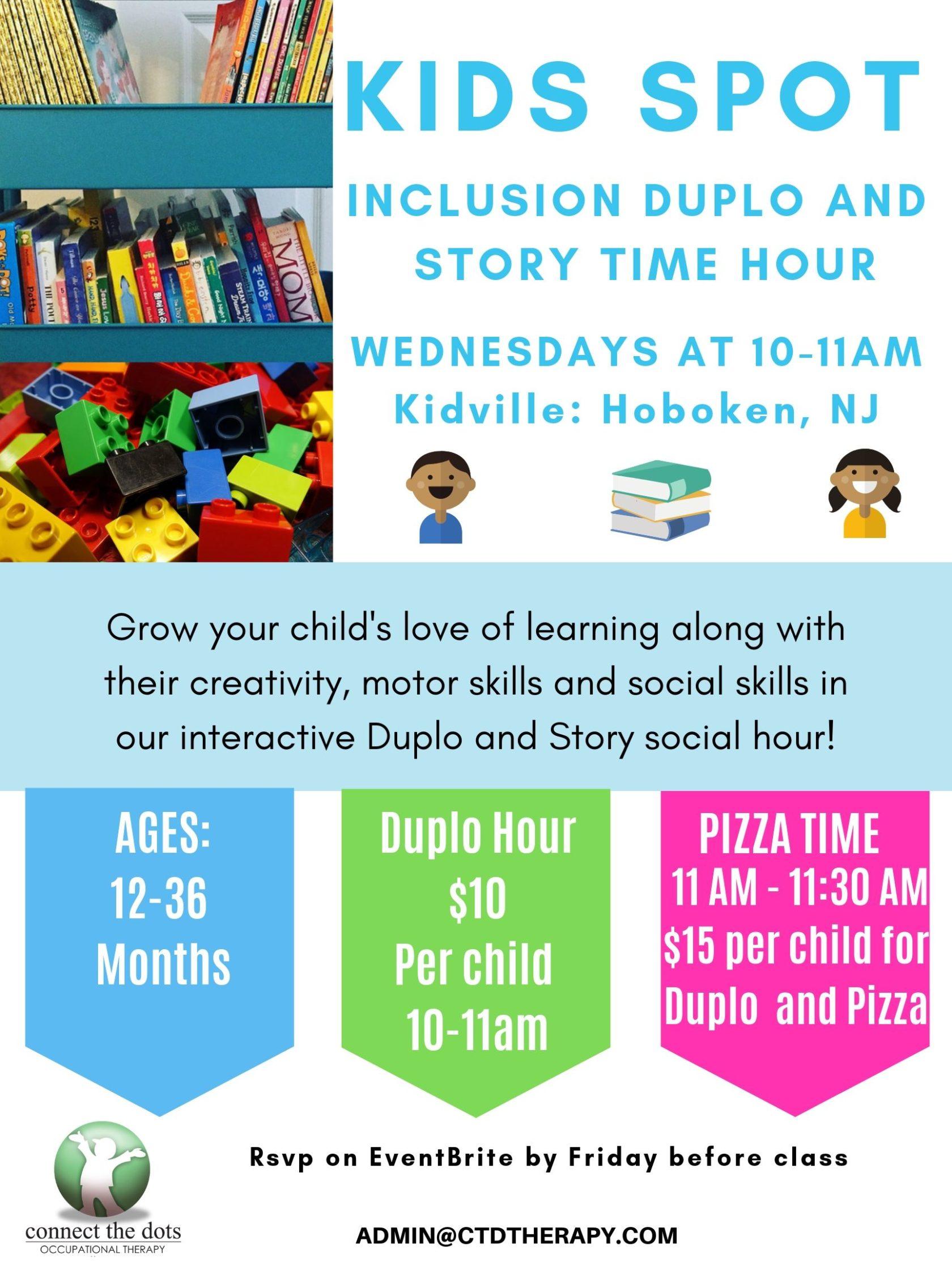 CTD OT Kid'd Spot Inclusion Duplo/Storytime