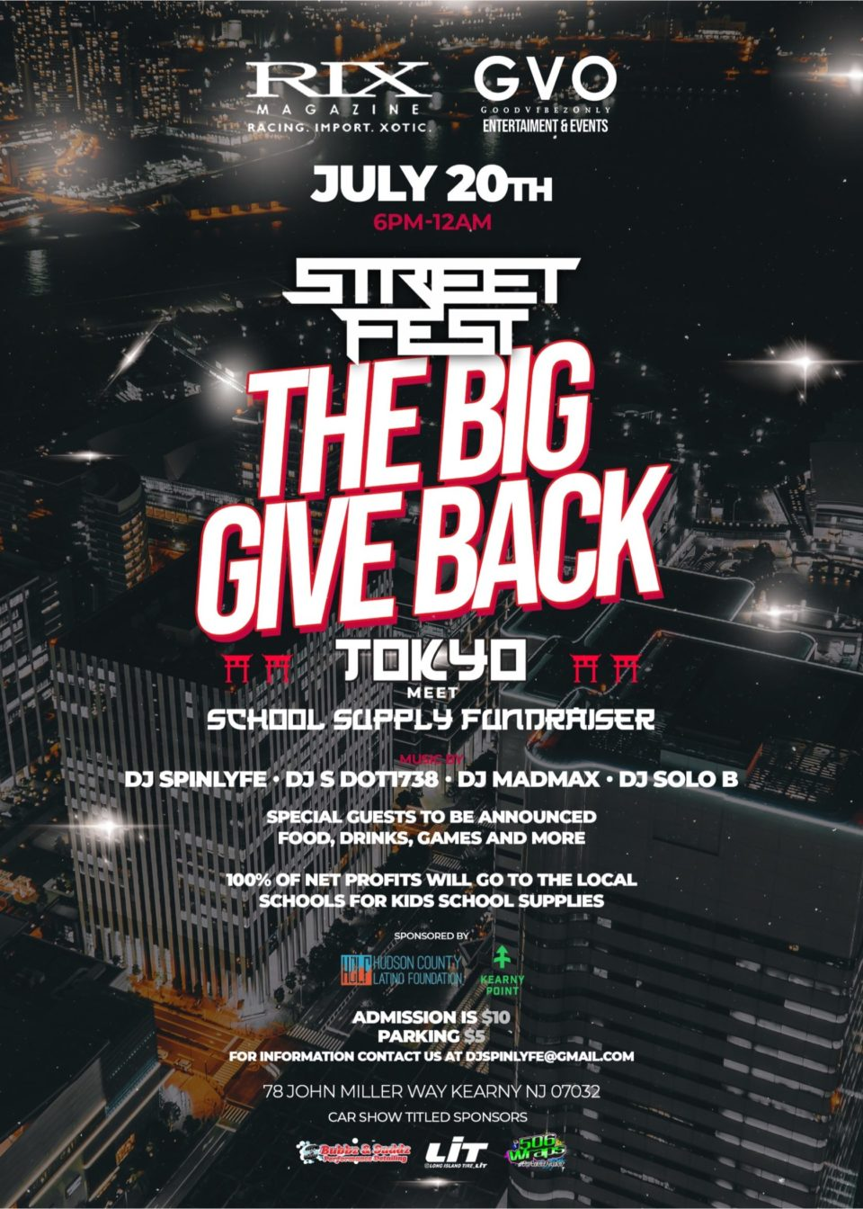 Big Give Back Street Fest at Kearny Point