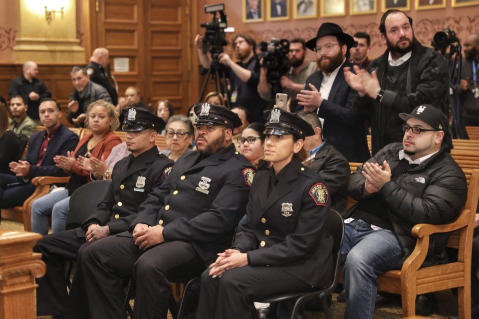 Mayor Fulop appoints 3 heroic officers to Detective after saving countless lives